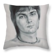 Man Throw Pillow by Sergey Ignatenko