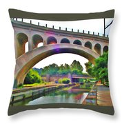 Manayunk Canal Throw Pillow by Bill Cannon