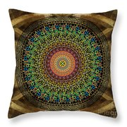 Mandala Armenian Alphabet Throw Pillow by Bedros Awak