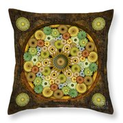 Mandala Stone Flowers Throw Pillow by Bedros Awak