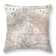 Map: Panama, 1907 Throw Pillow by Granger