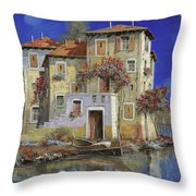 Mareblu' Throw Pillow by Guido Borelli
