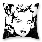 Marilyn Monroe Throw Pillow by Curtiss Shaffer