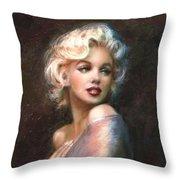 Marilyn Romantic Ww 1 Throw Pillow by Theo Danella