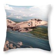 Marine Phantom Throw Pillow by Marc Stewart