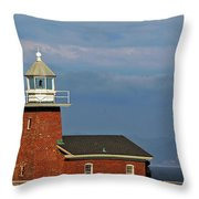 Mark Abbott Memorial Lighthouse California - The World's Oldest Surfing Museum Throw Pillow by Christine Till