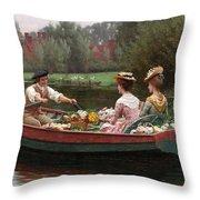 Market Day Throw Pillow by Edmund Blair Leighton