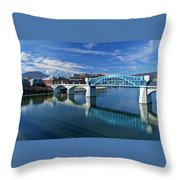Market Street Bridge  Throw Pillow by Tom and Pat Cory