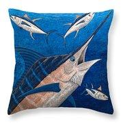 Marlin And Ahi Throw Pillow by Carol Lynne