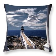 MARSHALL POINT LIGHTHOUSE MAINE Throw Pillow by Skip Willits