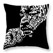 Martin Luther King Jr. Throw Pillow by Kamoni Khem