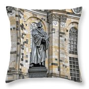 Martin Luther Monument Dresden Throw Pillow by Christine Till
