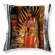 Mary In The Sun Throw Pillow by Mexicolors Art Photography