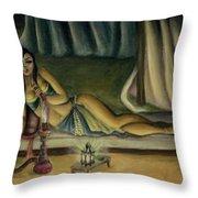 Mary Jane Addington Throw Pillow by C S