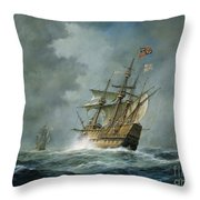 Mary Rose  Throw Pillow by Richard Willis