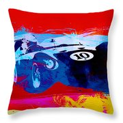 Maserati On The Race Track 1 Throw Pillow by Naxart Studio