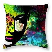 Masking Ego Throw Pillow by Ramneek Narang