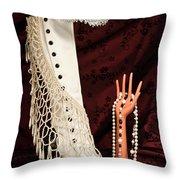 Masquerade Throw Pillow by Tom Mc Nemar