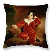 Master Charles William Lambton Throw Pillow by Sir Thomas Lawrence