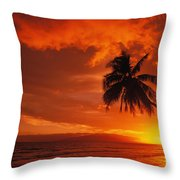 Maui, A Beautiful Sunset Throw Pillow by Ron Dahlquist - Printscapes