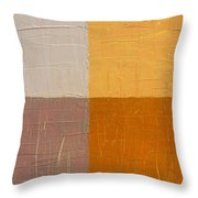 Mauve And Peach Throw Pillow by Michelle Calkins