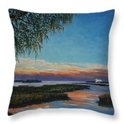 May River Sunset Throw Pillow by Stanton Allaben