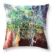 Maya Throw Pillow by Anil Nene