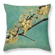 Mayblossom Throw Pillow by Priska Wettstein
