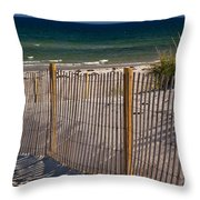 Mayflower Beach Throw Pillow by Susan Cole Kelly