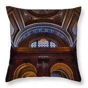 Mcgraw Rotunda Nypl Throw Pillow by Susan Candelario