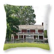 Mclean House Appomattox Court House Virginia Throw Pillow by Teresa Mucha
