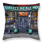 McSorley's  in Color Throw Pillow by Randy Aveille
