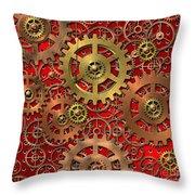 mechanism Throw Pillow by Michal Boubin