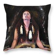 Medicine Woman Throw Pillow by J W Baker