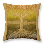 Meditation Throw Pillow by Leah  Tomaino