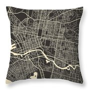 Melbourne Map Throw Pillow by Jazzberry Blue