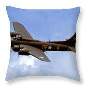 Memphis Belle Throw Pillow by Bill Lindsay