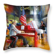 Memphis Nights 04 Throw Pillow by Miki De Goodaboom