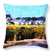 Mendocino Bluffs Throw Pillow by Wingsdomain Art and Photography