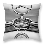 Mercedes Benz Hood Ornament 2 Throw Pillow by Jill Reger