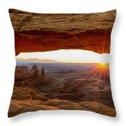 Mesa Arch Sunrise - Canyonlands National Park - Moab Utah Throw Pillow by Brian Harig