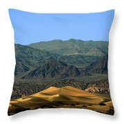 Mesquite Flat Sand Dunes - Death Valley National Park Ca Usa Throw Pillow by Christine Till