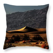 Mesquite Flat Sand Dunes Death Valley - Spectacularly Abstract Throw Pillow by Christine Till