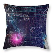 Metaphysical Gravity Throw Pillow by Kenneth Johnson