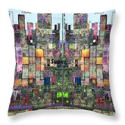 Metropolis Vi Throw Pillow by Andy  Mercer