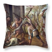 Mexico: Christian Martyrs Throw Pillow by Granger