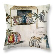 Mexico: Missionaries Throw Pillow by Granger