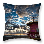 Miami Dawn Throw Pillow by Dave Bowman