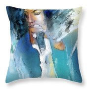 Michael Jackson 04 Throw Pillow by Miki De Goodaboom