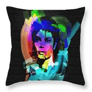 Michael Jackson Throw Pillow by Mo T